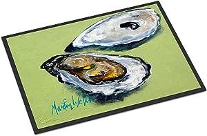 "Caroline's Treasures Oysters Two Shells Indoor or Outdoor Doormat, 24"" x 36"", Multicolor"