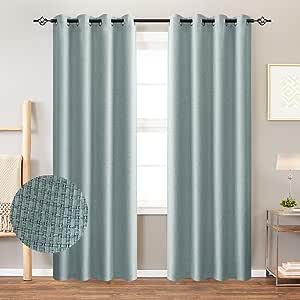 JINCHAN 一对隔热室内遮光窗帘适用于卧室一双