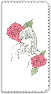 卡丽 壳 双面印刷手册 女孩和玫瑰 智能手机壳 手册式 对应全部机型 女の子とバラB 4_ AQUOS ZETA SH-04F