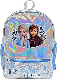 冰雪奇缘 2 个铝箔 16 英寸背包 带闪光前袋 银色 标准