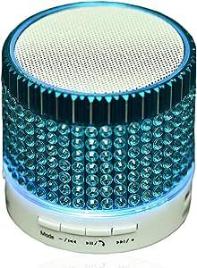 蓝牙音箱无线迷你音箱,带 LED 灯变色扬声器内置麦克风免提扬声器,适用于三星 Galaxy Note 5 4 S7 S6 S5 S8 Plus iPhone 7 6 6S 5S 笔记本电脑 蓝色