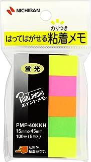 ニチバン 付箋 ポイントメモ 15×45mm PMF40KKH-10P 蛍光 10個パック