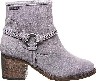 Bearpaw Mica 女士高跟拉链麂皮靴,灰色雾色 - 11 中号