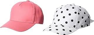 [索尼莫奈] 帽子 Sonemone 女童用 棒球帽 2个套装 粉色&圆点 棒球帽 粉色&白色 US 6-9岁 (FREE サイズ)