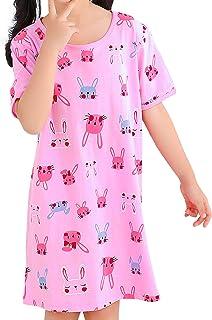 BOOPH 女童睡衣,棉质,幼童公主短袖睡衣连衣裙