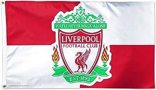 WinCraft 利物浦足球俱乐部旗帜 7.62 厘米 x 12.7 厘米 - 格子旗帜 7.62 厘米 x 12.7 厘米