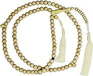 TheTasbih 8 毫米祈祷珠黄色柑橘木塔比带 11 个珠子标记