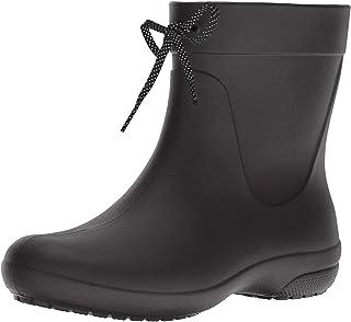 Crocs Women's Freesail Shorty Rainboot Blk Rain Boots