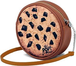 Oh My Pop Oh My Pop! Cookies-圆形单肩包邮差包,18 厘米,棕色