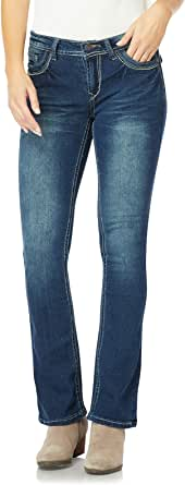 WallFlower 女式青少年经典传奇弹力微喇牛仔裤 Katy 3