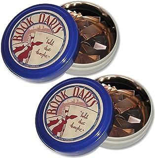 Book Darts Line 書簽混合包 – 黃銅、青銅和不銹鋼書簽 - 2 個錫罐(每盒 125 個)