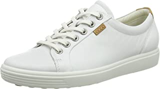 ECCO 愛步 女士休閑Soft VII 時尚運動鞋 , 白, 37 EU/6-6.5 M US