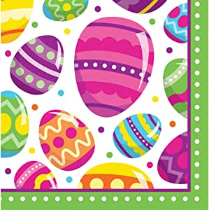 Creative Converting 319577 192 件装美丽的篮子餐巾纸 Egg Fun Luncheon 319571