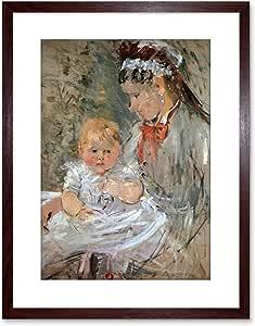 Painting Morisot Julie with Nurse 老大师带框图片艺术印刷品 F97X9085