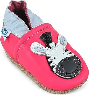 美丽软皮革婴儿 SHOES–幼儿鞋子,麂皮绒鞋底