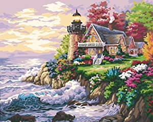DIY 涂料数字套件海滨别墅 40.64 x 50.8 cm 无框 Seaside Villa LYB-P-0041-g