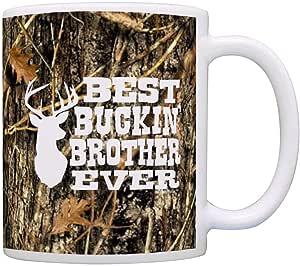 送给兄弟的*佳 Buckin' Brother Ever 的生日礼物 咖啡杯茶杯 迷彩 11 盎司 A-P-S-M11-1836-01