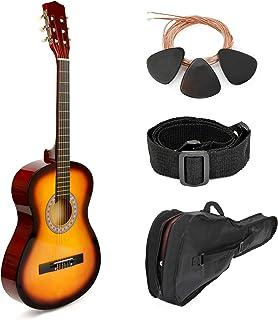 """全新! 76.20 cm 粉红色木吉他,配有盒子和配件,适合儿童/女孩,初学者 30"""" SUNSET"""