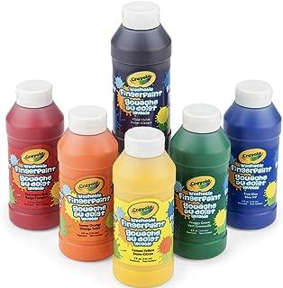 Crayola 繪兒樂 可清洗手指畫顏料,8盎司(約237毫升)瓶,6瓶裝