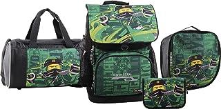 LEGO Bags 乐高 书包 套装 Optimo,4 件套,仅700 G,学校套装 乐高 幻影忍者 主题书包套装,38 厘米 能源 38 cm