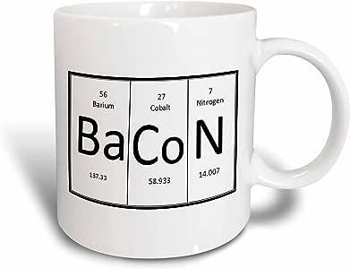 3dRose EvaDane - 趣味语录 - BaCoN。 - 马克杯 白色 15盎司 mug_193517_2