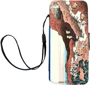 Rikki Knight Katsushika Hokusai Art Climing on Mt. Fuji Flip Wallet iPhoneCase with Magnetic Flap for iPhone 5/5s - Climing on Mt. Fuji