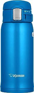 ZOJIRUSHI 象印 水杯 直饮型 【一键开启式】 不锈钢马克杯 360ml 哑光蓝色 SM-SD36-AM