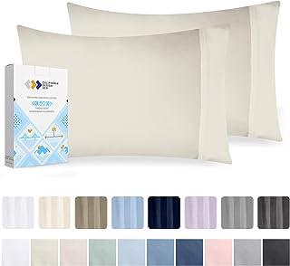California Design Den 500 支床单套装 Ivory - Solid 2pc Standard/Queen Pillowcases