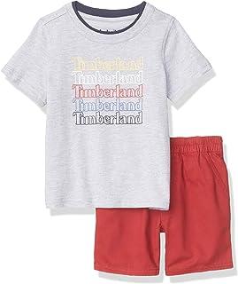 Timberland 男孩 2件套 短袖短裤套装