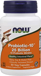 NOW Foods 諾奧 補品,益生元10,250億,含10種益生元菌株,經過驗證的菌株,50粒素食膠囊