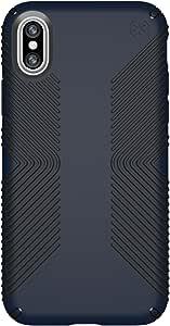 Speck Products Presidio Grip iPhone X 手机壳103131-6587 Presidio Grip 均码 Eclipse 蓝色/碳黑色