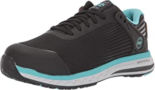 Timberland PRO 女式鞋头复合材料鞋头 EH 工业靴,黑色/蓝色,美码 12 M