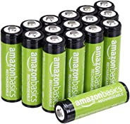 AmazonBasics 亞馬遜倍思 AA 型(5號) 鎳氫預充電 可充電電池 (16節,2000mAh)