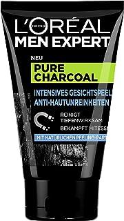 L'Oréal Paris 巴黎欧莱雅 Men Expert Pure Charcoal 碳 面部去角质磨砂膏 适用于清洁皮肤 1 x 100 毫升