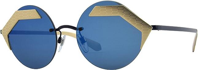 Bvlgari 宝格丽 女士太阳镜OBV6089 202255 55 蓝色(进口)(亚马逊自营商品, 由供应商配送)