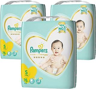 Pampers 帮宝适 纸尿裤 宝宝用纸尿裤 S码 テープ Sサイズ(4~8kg)76枚ⅹ3