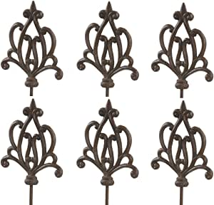 Dehner 花园蛋糕装饰,怀旧,6件,每件约140 x 17.5 x 3.2 厘米,铸铁,高贵锈色