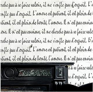 French Script Love 家具墙壁地板模板 Furniture Medium
