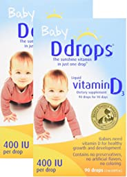 Ddrops 婴儿 400 IU 滴剂, 2支