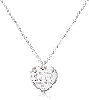 [ 蒂芙尼 ] Tiffany 純銀 RTT 蒂芙尼 Love 心形鑰匙吊墜項鏈41cm ~ 46cm 36339497