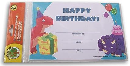 教學樹教室證書 - 生日快樂恐龍 - 20 張