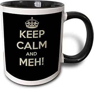 mug_178666 BrooklynMeme Keep Calm - Keep calm and Meh - Mugs 黑色/白色 21盎司