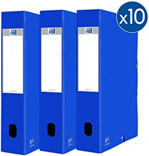Oxford Eurofolio+ 纸板,带橡皮筋,24 x 32厘米,背面 60毫米,蓝色,10件