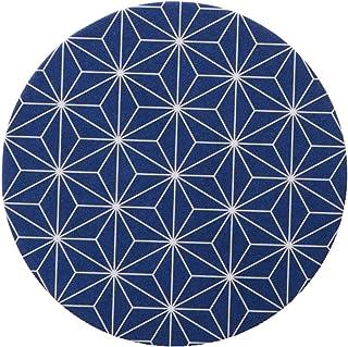三得利 营销 日式花纹杯垫 圆形 麻叶(蓝色)100片装 117-177