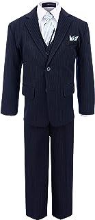 Gino Giovanni 男童正装 2 粒扣细条纹西装套装