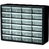 Akro-Mils 10124 24 抽屉塑料零件存储五金件和工艺柜,50.8 cm x 40.64 cm x 16.51 cm,黑色 20-Inch Width x 15-13/16-Inch Width x 6-3/8-Inch D 10124