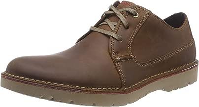 Clarks 男士 Vargo Plain 德比鞋,