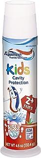 Aquafresh 儿童 按压式 泡沫薄荷氟化物牙膏 预防蛀牙 4.6盎司(130.4克) 6个装