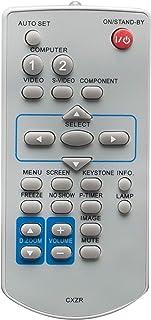 CXZR 替换遥控器适合 Sanyo 投影机 PLC-WK2500 PLC-XC56 PLC-XD2200 PLC-XD2600 PLC-XK2200 PLC-XK2600 PLC-XK3010 PLC-XR201 PLC-XR251 PLC-XR301 PLC-XR301 PLC-XU106 PLC-XU106K PLC-XU300 PLC-XU300A
