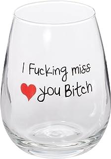Best Friends 长距离友谊 I Miss YOU Bitch Stemless - 大号 484 ml One Glass 17 盎司